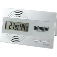 Adorini Silver Digital Hygrometer